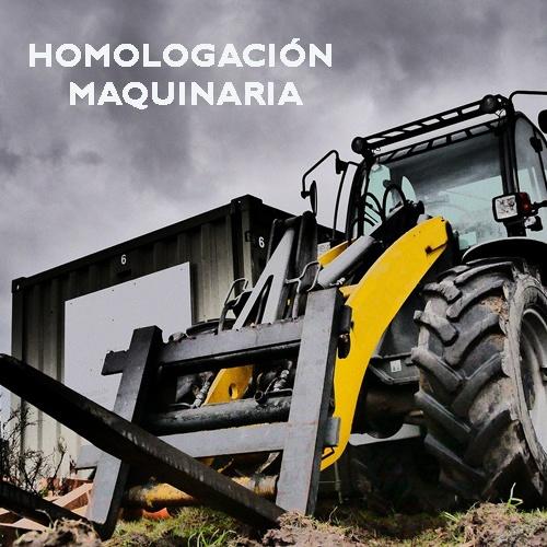 HOMOLOGACIÓN MAQUINARIA